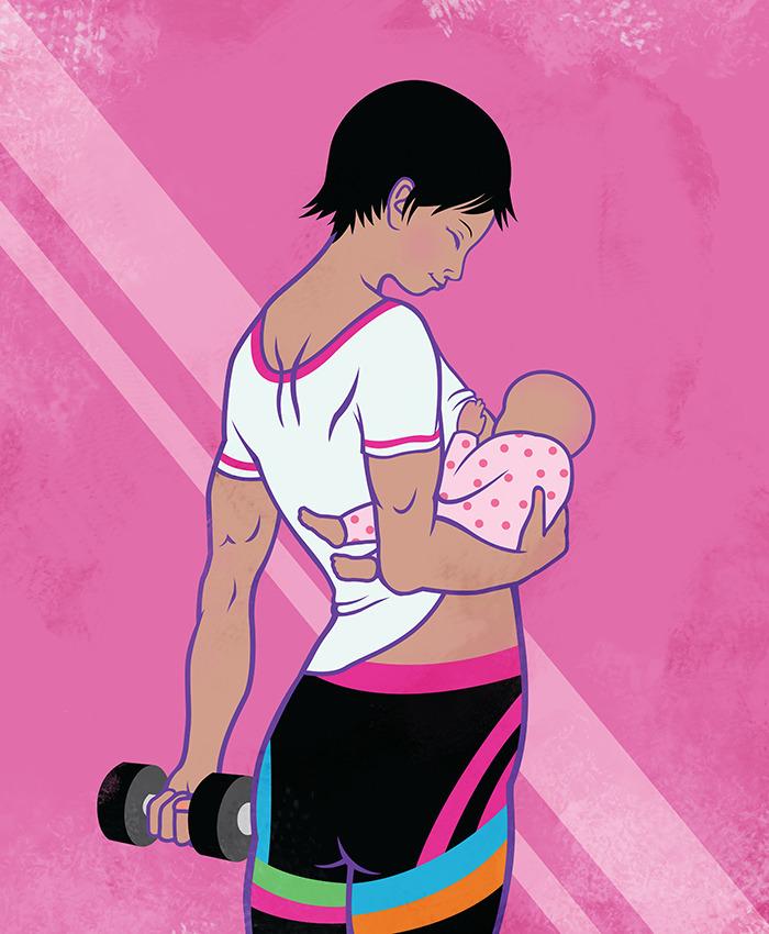 Gym Mother. Illustration Praecl - kentack | ello