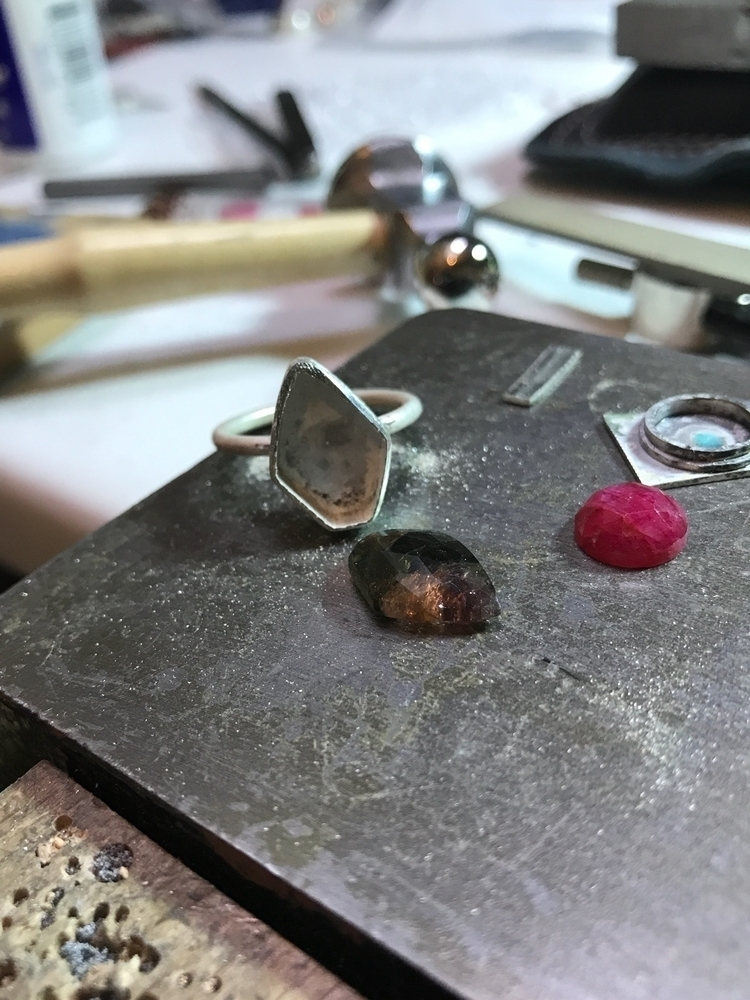 Bi colour tourmaline ruby - han - mmmjewellerydesign   ello