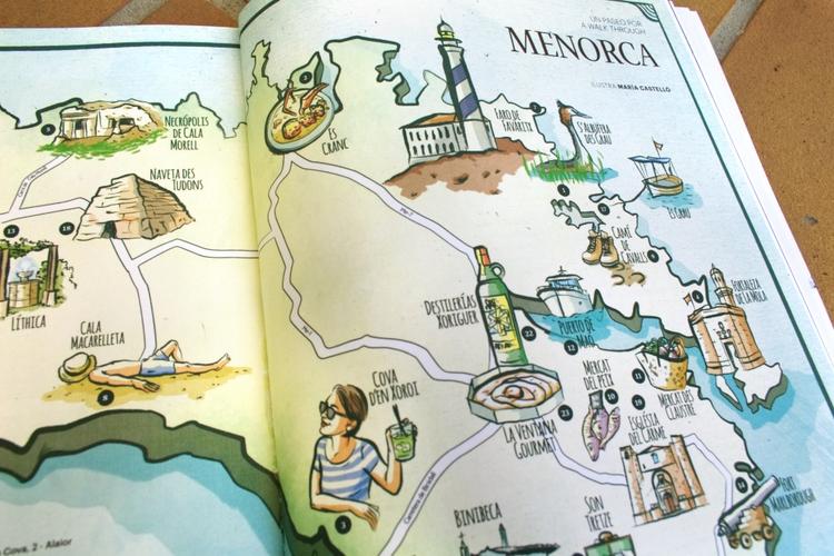 Map Menorca Issue Ling Magazine - mariacastellosolbes | ello