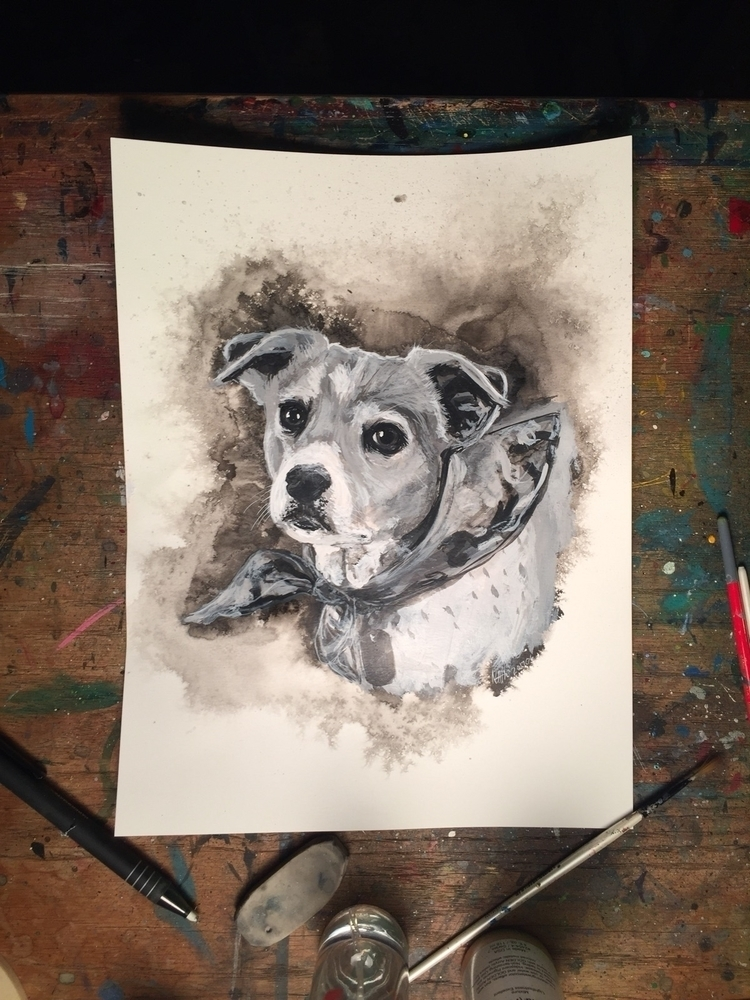 painting, pet, portrait, tribute - nathanawoodart | ello