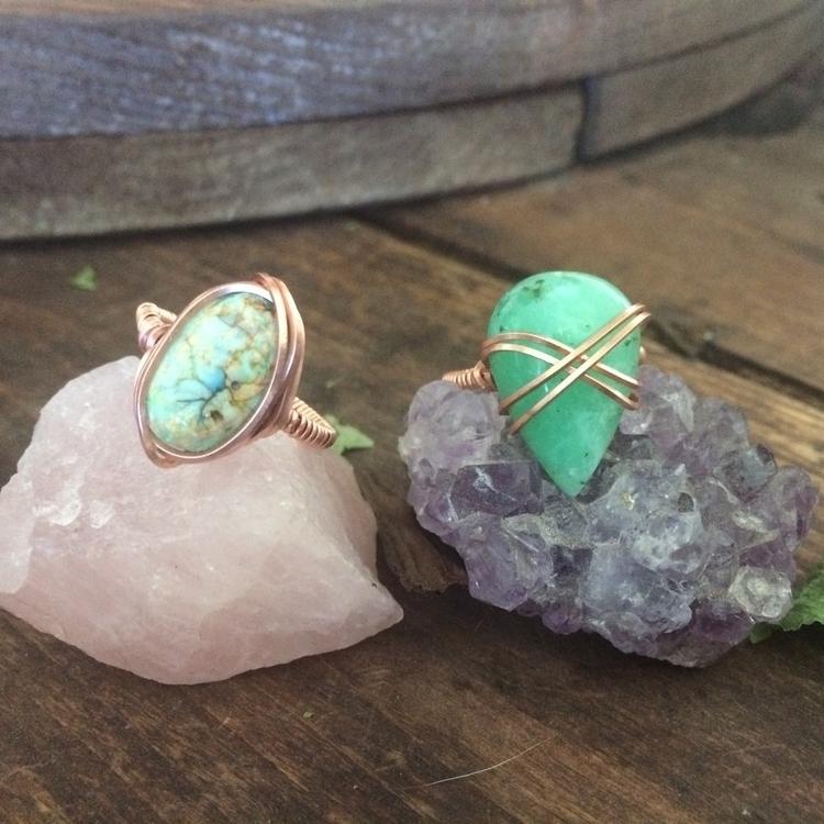 Monet opal chrysophrase rings:h - gemsbymarni | ello