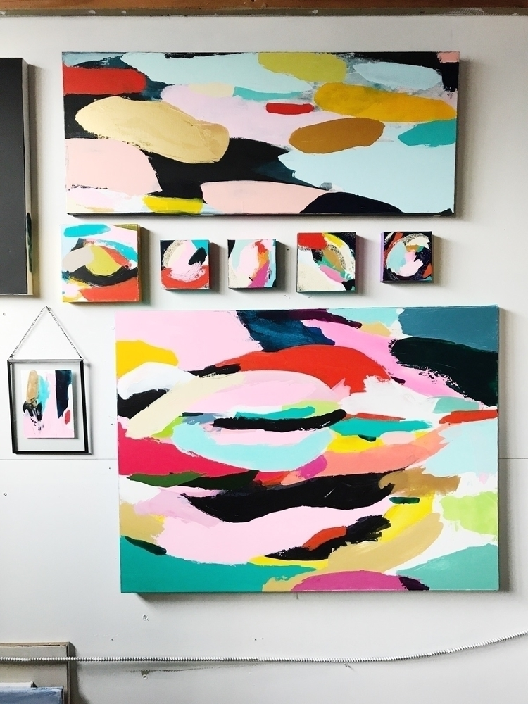 methodical hang paintings studi - angietherose | ello