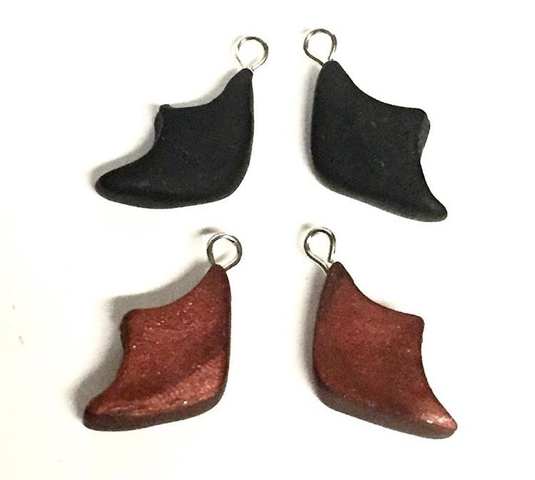 Thinking making bat wing charms - darkascole | ello