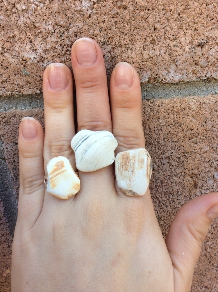 Polished shell rings - $10 ship - lovelycharmedfinds | ello