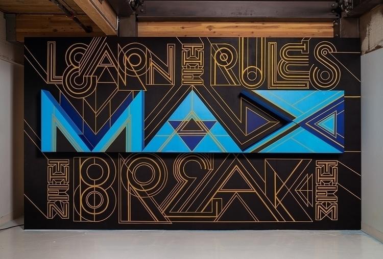 Adobe MAX Mural - Type, Lettering - leandrosenna | ello