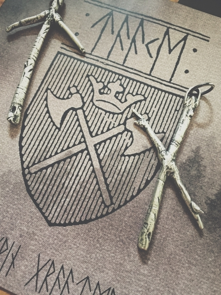 Tiwaz Naudhiz rune pendants, ha - darkwoodjewelry | ello