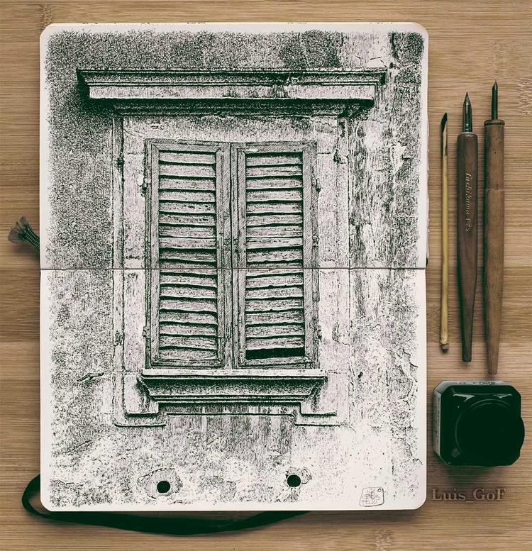 Una finestra romana - nib, inkonpaper - luisgof | ello