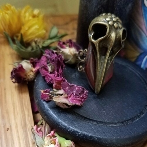 Bird skull Red Jasper ring. Int - dopemysticgypsy | ello