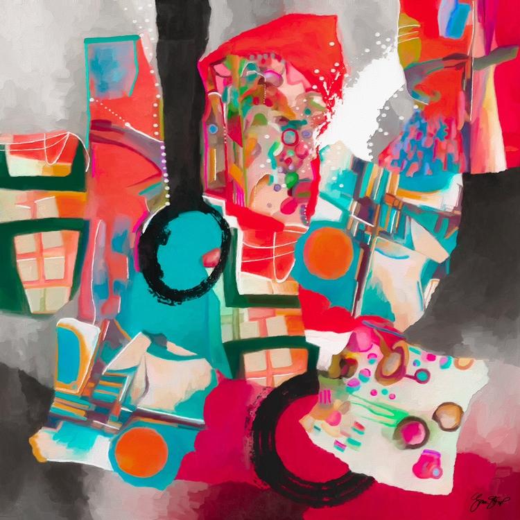 Candy Shop - abstract, mixedmedia - ginastartup | ello