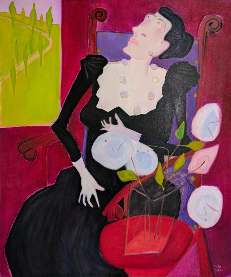 Lady Bla oil/canvas, 50x44 - art - markbarry | ello