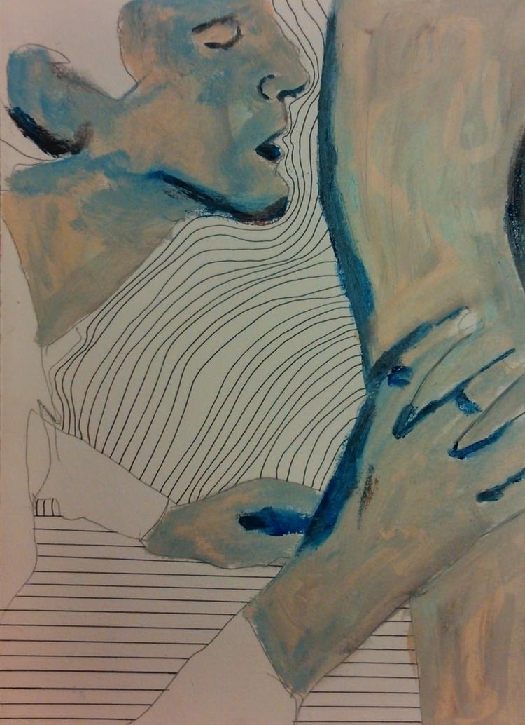 legs ///// ink oil paper - Une  - guiart | ello