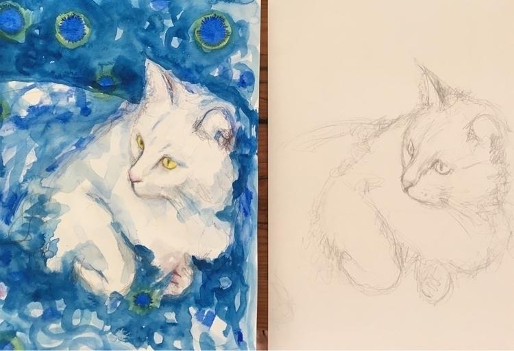 Luna - art, cats, elloart, commissions - arnabaartz | ello