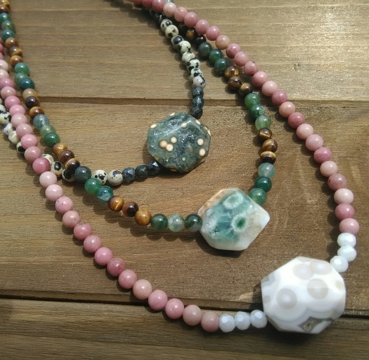 Ocean Jasper Necklaces $34 - etsy - fairywitchcreations | ello