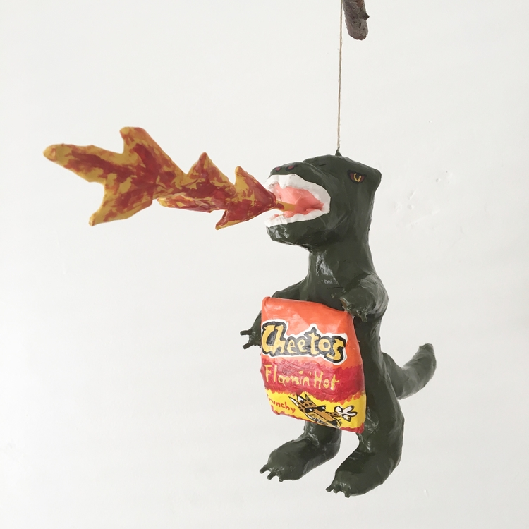 Godzilla loves flaming hot Chee - jikits | ello