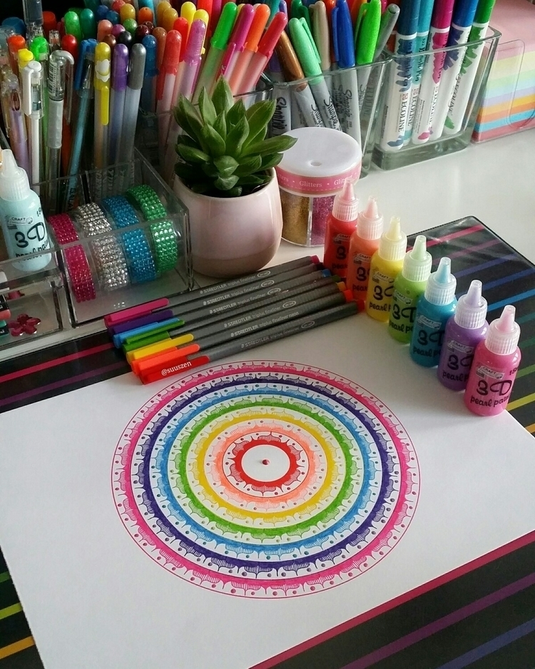 colorful mandala 3D pearl paint - suuszen | ello
