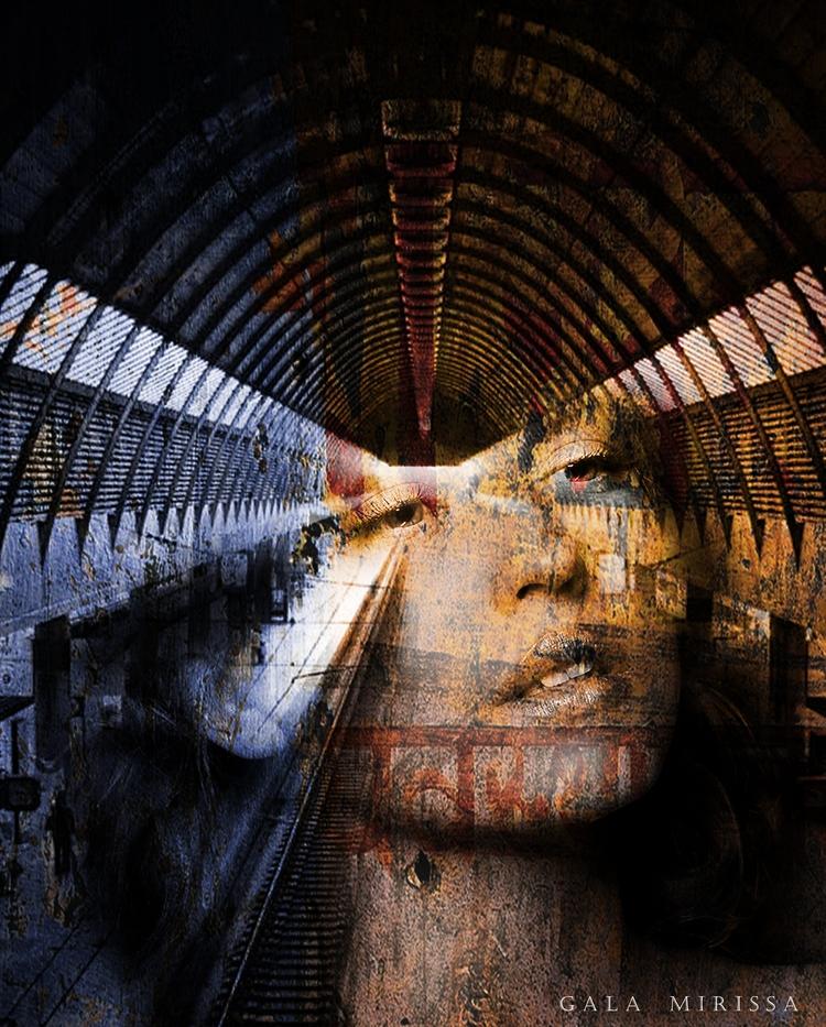 DEPARTURE TRAIN - canvas (avala - gala-mirissa   ello