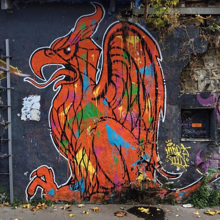 Phoenix - street, streetart, streetphotography - philippefabry | ello