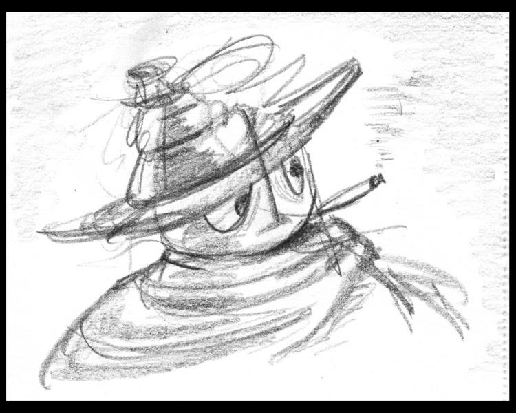 Desperado - sketch, scribble, robot - ckrabbe | ello