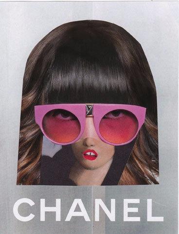 Chanel. handmade collage, 13x17 - ewalook | ello