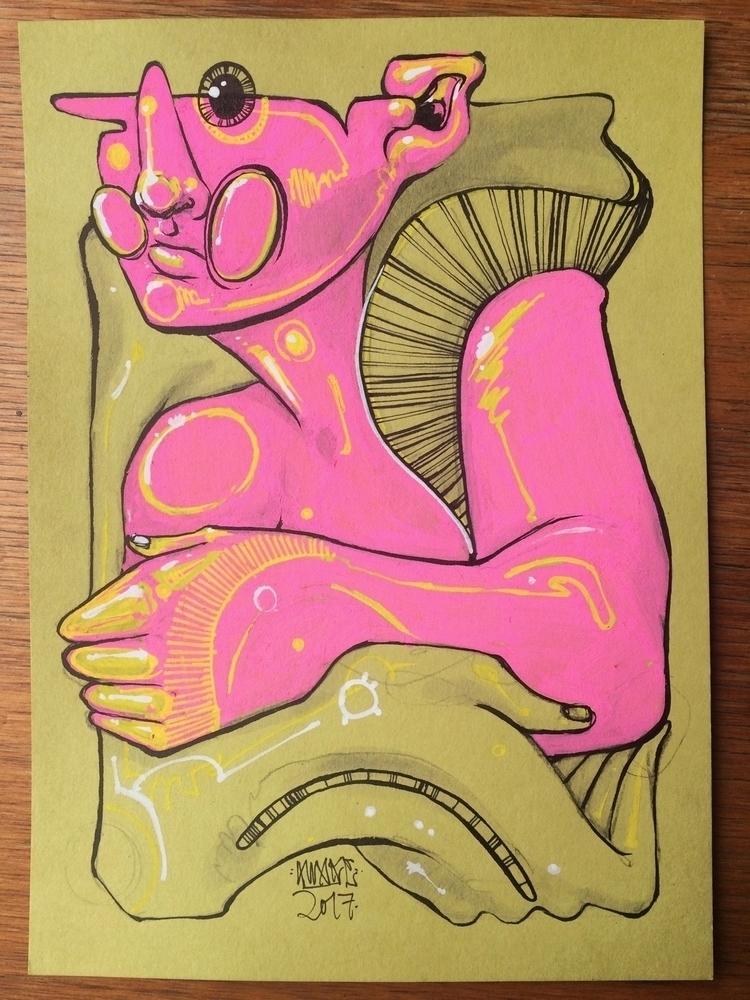 Held 5x7 Paint pen ink 30$ Emai - awake_pdx | ello