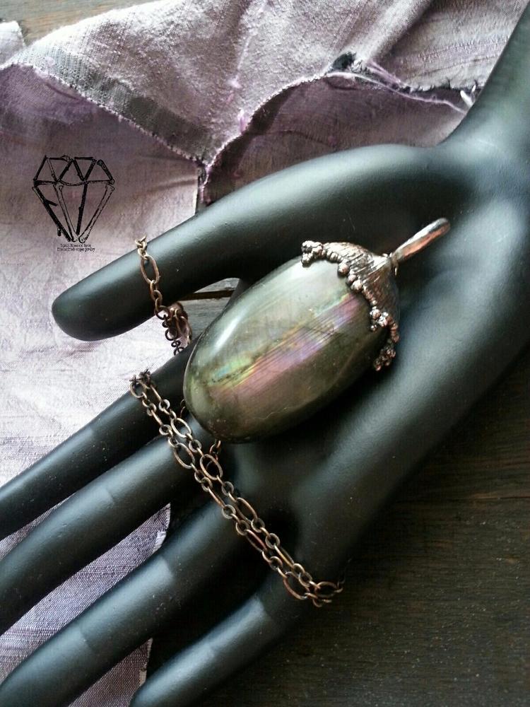 Purple Labradorite <3 - electroformed - sticksstonesandbones | ello