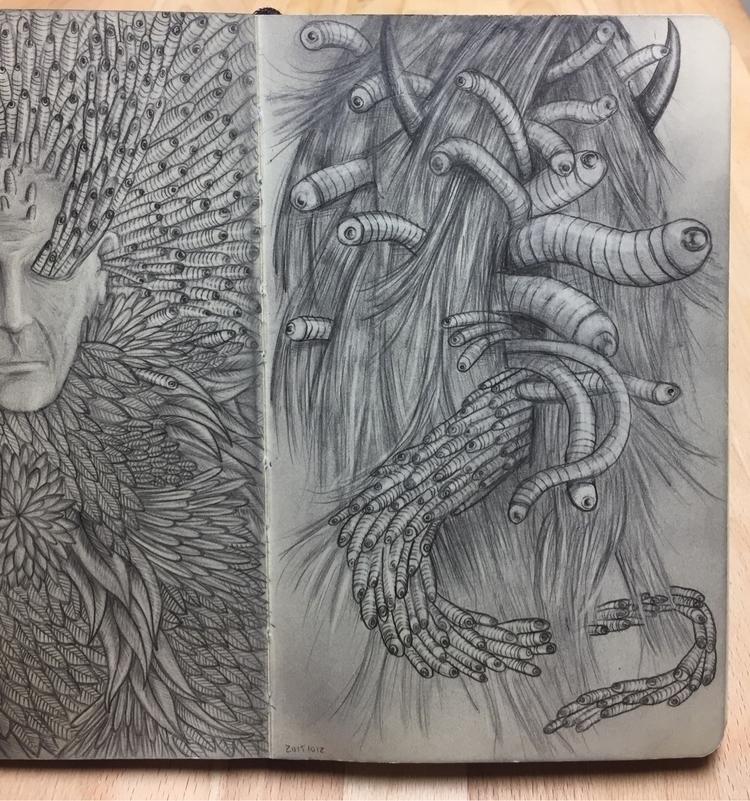 sketchbook, drawings, simple - nathanawoodart | ello