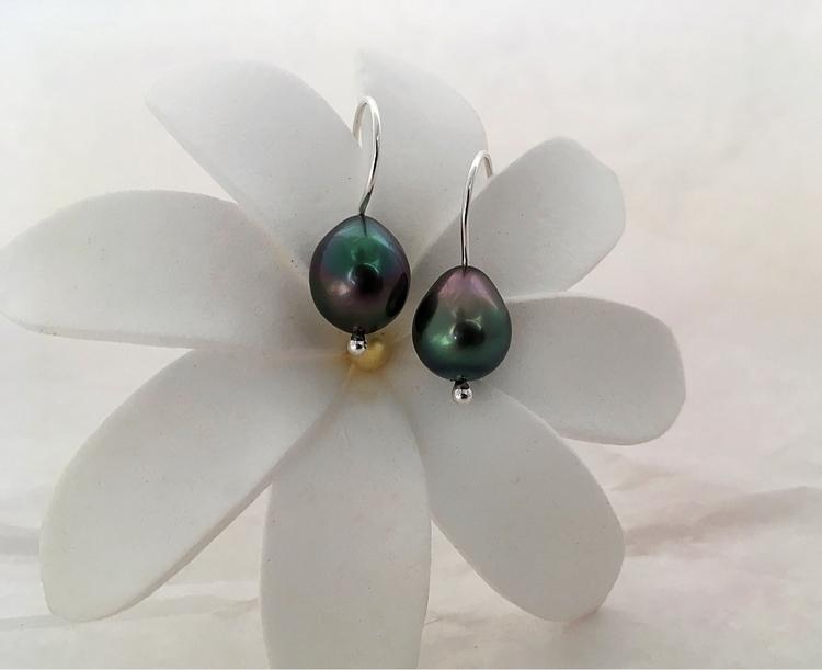 Boucles en argentium, perles de - aufildelaurette | ello