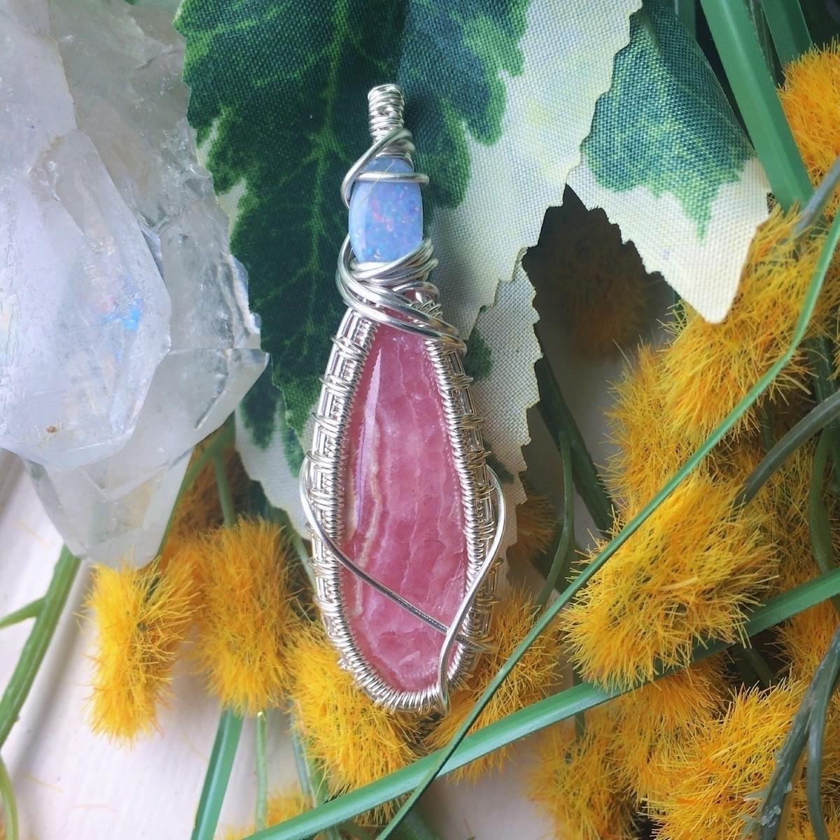 Opal Queen Boulder opal rhodoch - thecitrineforrest | ello