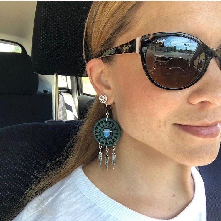 Repost damn fine kind earrings  - taramantra | ello