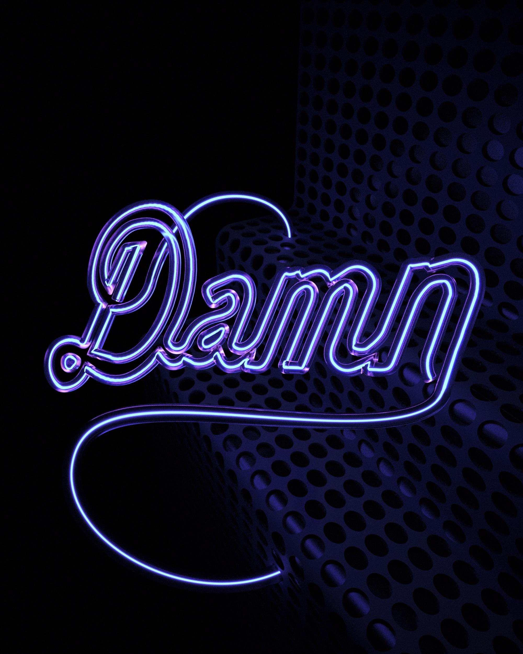 DAMN - Design, #3D, CGI, MotionDesign - deangiffin | ello