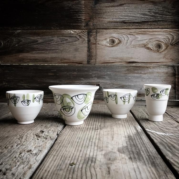 Porcelain. Green-eyed - handmade - highyieldstudio | ello