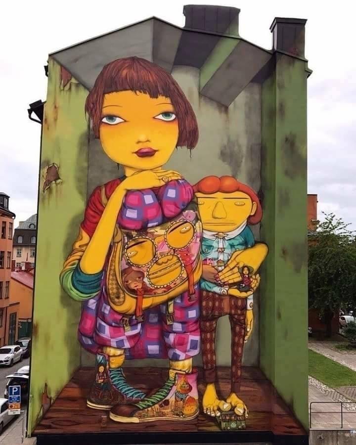 Artists: Os Gemeos Location: St - streetartunitedstates   ello