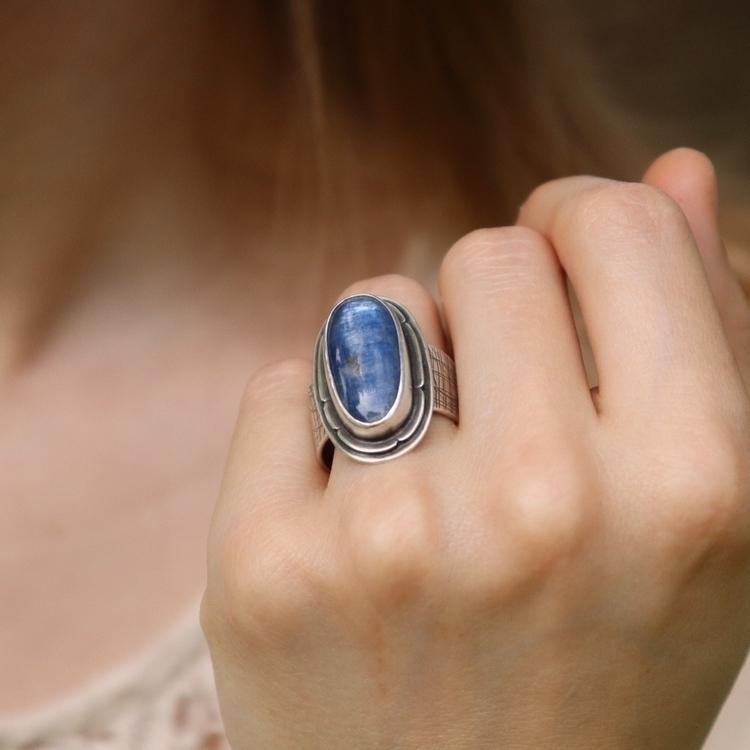 Kyanite stone sterling silver r - srjewelry | ello