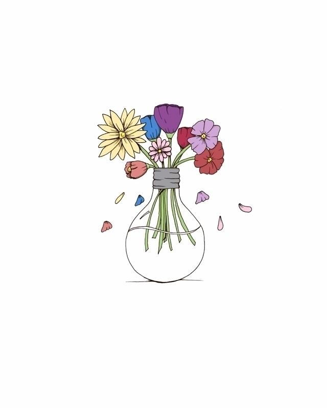 Fresh cut flowers. Drawn pen in - svaeth | ello