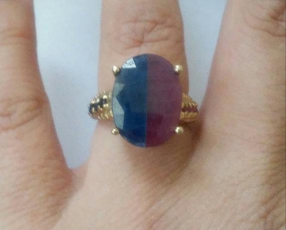 OOAK Vintage Gorgeous Blue Sapp - jewelsbyvittoria | ello