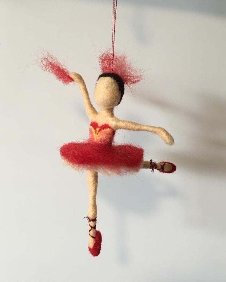 Needle felted Firebird ballerin - artfuleemade | ello