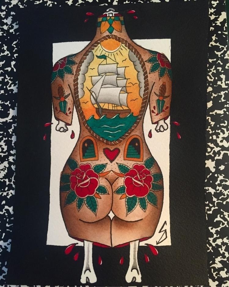 delaskuflash, art, watercolor - squatchrogers | ello