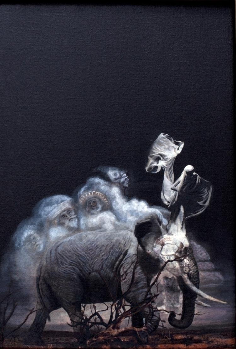 La fin des éléphants. Acrylique - tuffelli | ello