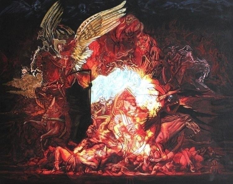 Apocalypse Acrylique sur toile  - tuffelli | ello