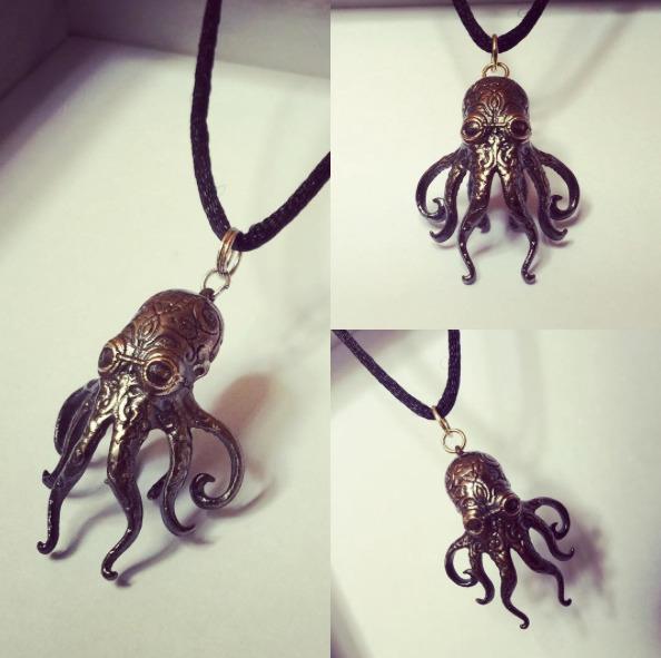 Octo-totem patinated bronze fin - schuylark   ello