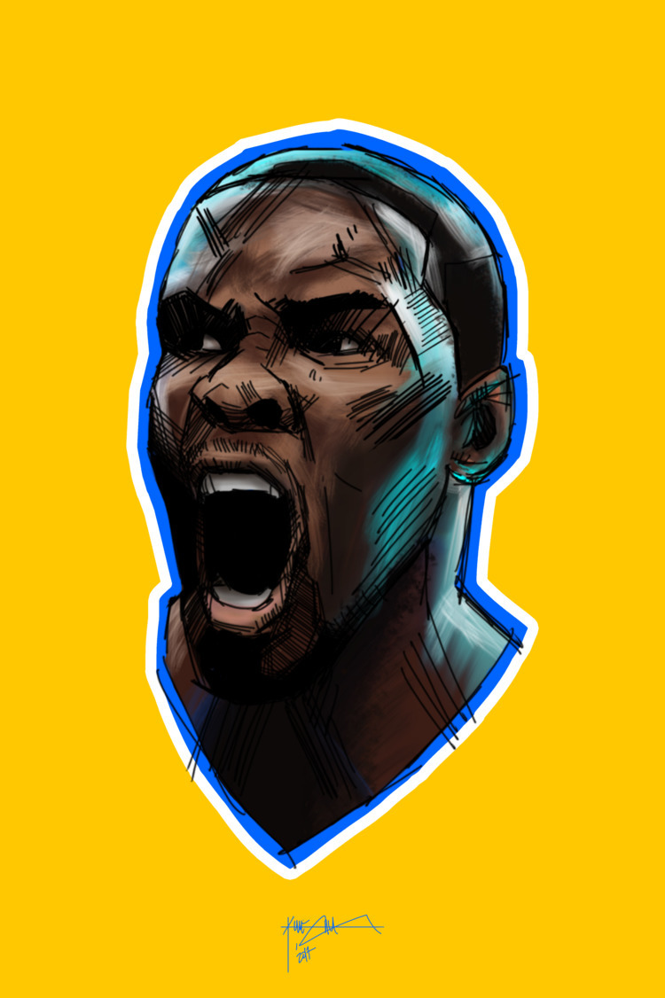 Kevin Durant - portrait, nba, gsw - kineticon | ello