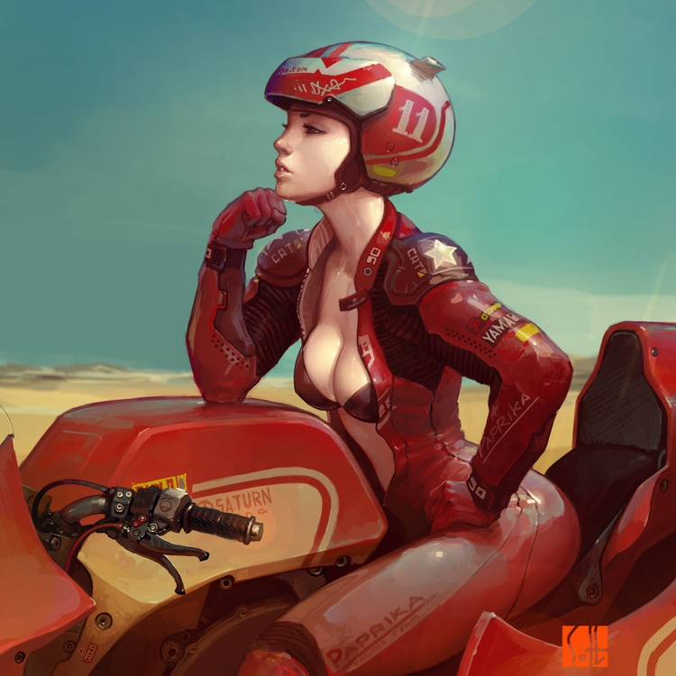 sexy, motorcycle, rider, illustration - ukimalefu | ello