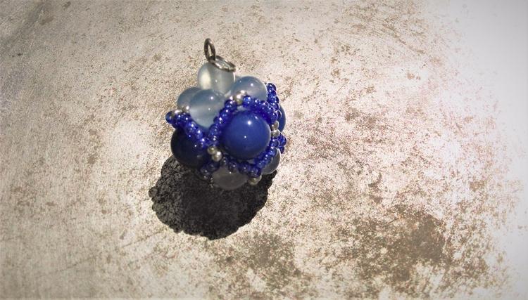 large sphere, dark light, blue  - haleh_creates | ello