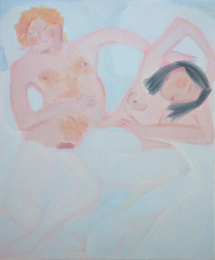 Sleepers Oil/canvas, 18x15 - art - markbarry | ello