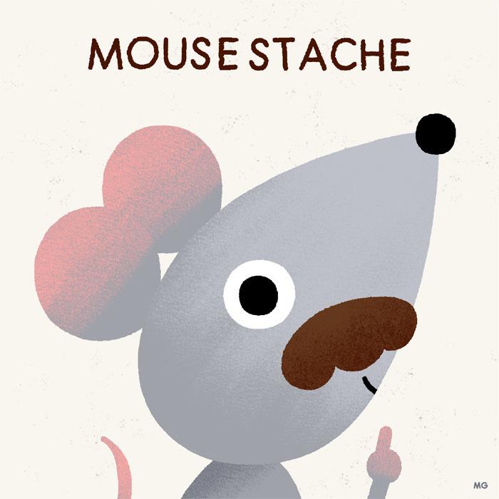mice cool - mouse, mustache, illustration - maurogatti | ello