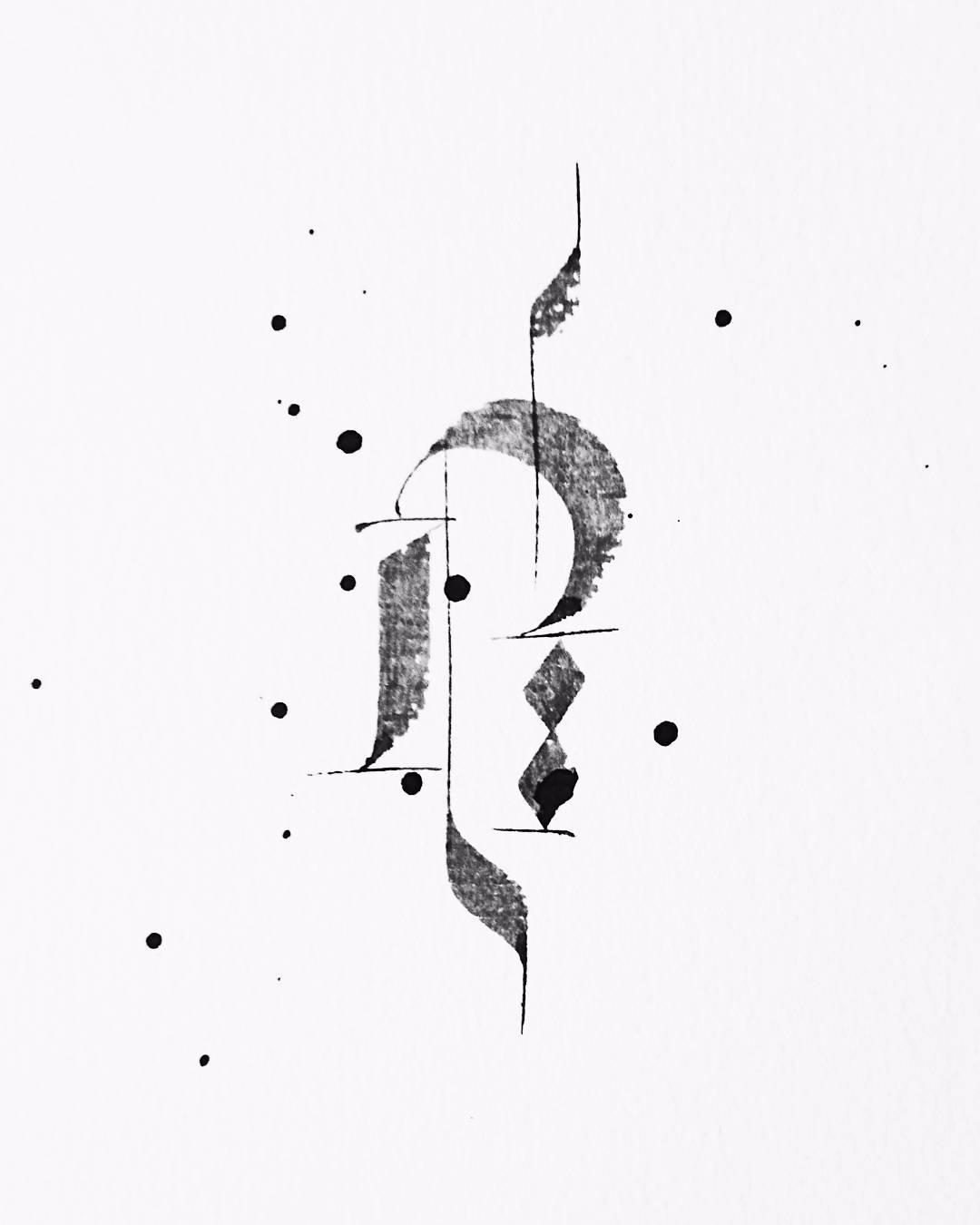 002 - Flunctuations - calligraphy - igorsturion | ello