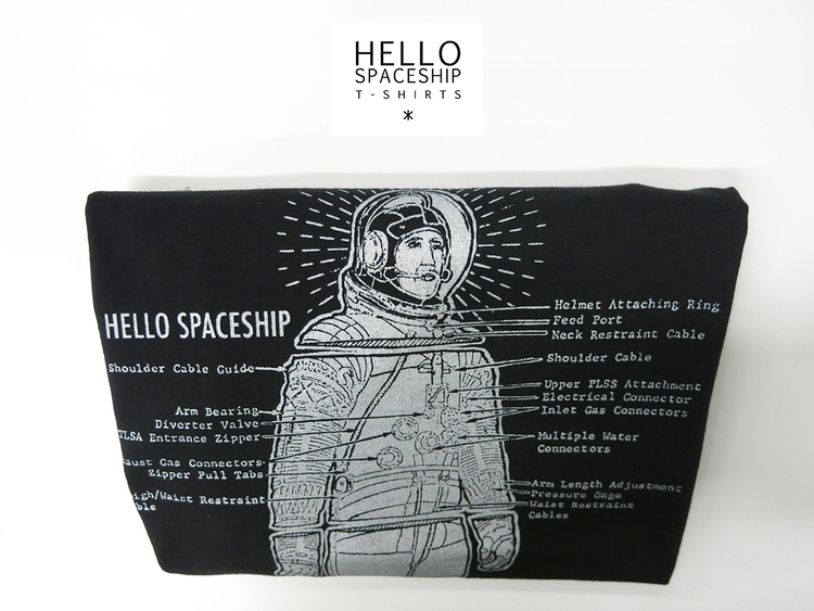 Spaceship - astronaut, screenprint - hellospaceship | ello