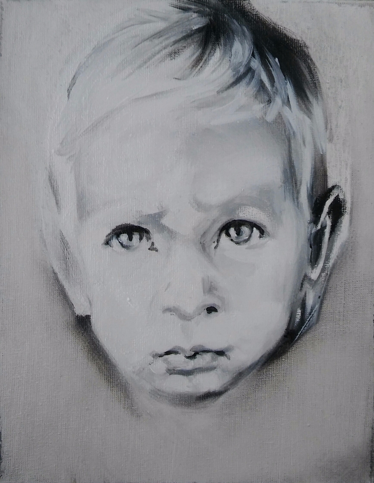 portrait# boy# children#oil#can - judytakrawczyk | ello