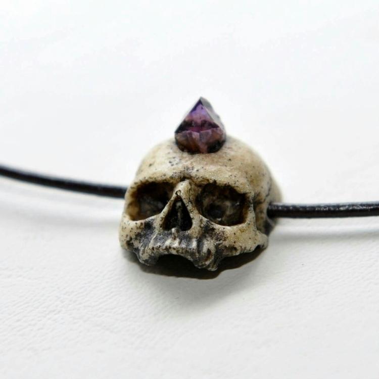 Hand Sculpted Skull Series Chok - gothicimaginations | ello