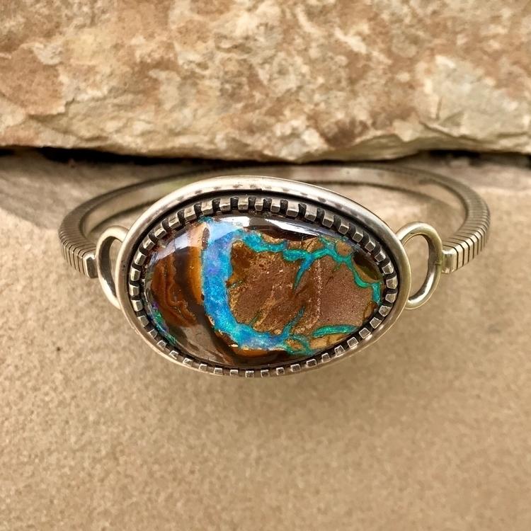 silver, opal, bracelet, handmade - scottjamesjewelry | ello